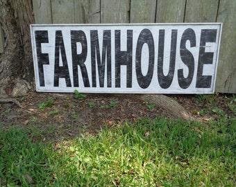 Extra Large Farmhouse Sign, 50x18 framed,
