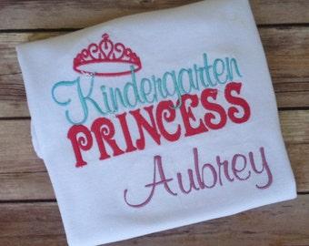 Back To School Pre-School, Kindergarten, First Grade Princess Shirt Outfit
