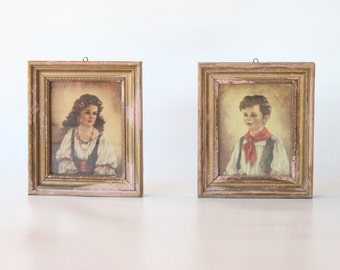 vintage pair of pirates / framed wall art