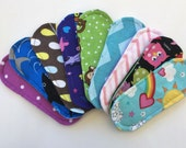 """Set of 5 Wingless Cloth Panty Liners Mystery Pack 6.5"""""""
