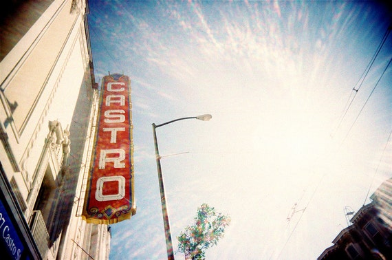 The Castro San Francisco - Original Lomo Art Photograph - lens flare photography print