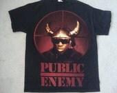 Public Enemy Rap Hip Hop concert tour Flavor Flav T Shirt M