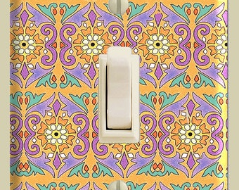 Digital Papers for Making Decoupage SWITCHPLATES fits Standard Size Plate Toggle or Rocker 8 Designs Motifs of India Boho Chic SP 7