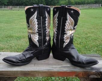 Rocketbuster Vintage Eagle Cowboy Boots size 10