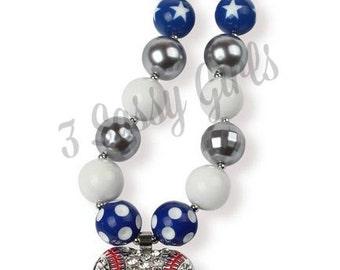 Little DIVA Baseball Bubble Gum Necklace