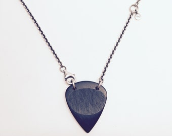 African Ebony Guitar Pick Necklace
