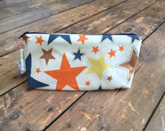 Clearance*** Pencil Case/Cosmetic Bag/ Gadget Case - Stars -ready to ship