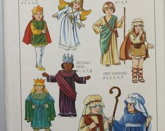 Size 6 8 Child Girls Boys Simplicity 8930 Nativity King 3 Wisemen Angel Sheperd Joseph Mary Kids Play Church  Costume Uncut Sewing Pattern