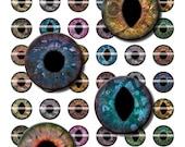 16mm Steampunk Eyes Digital Collage Sheet for Fantasy DIY Jewelry Making Sculptures or Scrapboooking