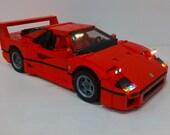 Light up set of Ferrari F40 for Lego Creator 10248 - (car not included)