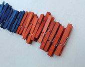 Orange and Blue - wooden clothespins - craft supply - gators - back to school - organization supply - party supply