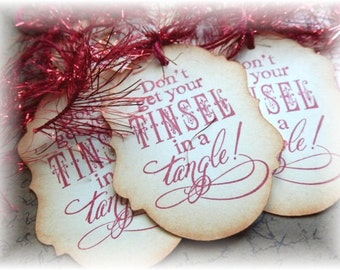 Don't Get Your Tinsel in a Tangle -  Tags (8)