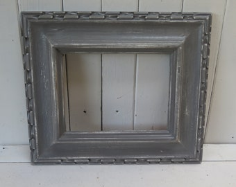 Dark Grey Distressed Picture Frame Rustic Shabby Chic Cottage Beach Frame for picture gallery wall