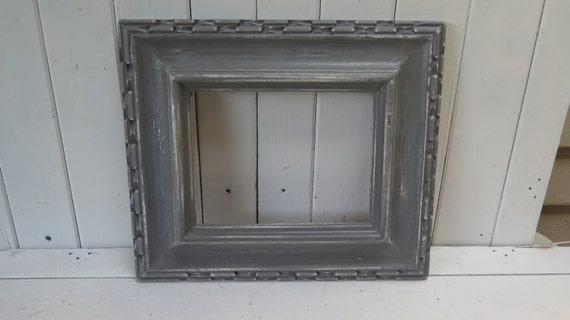dark grey distressed picture frame rustic shabby chic cottage. Black Bedroom Furniture Sets. Home Design Ideas
