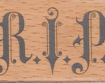 RIP Halloween Stamp --   NEW  -- Wood Mounted Rubber Stamp --  Studio G Brand --   (#1516)