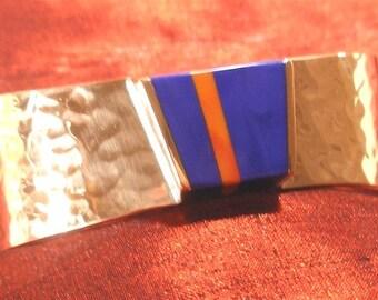 Copper Spiney Oyster Shell Lapis  Bracelet - Lapis Jewelry BR101