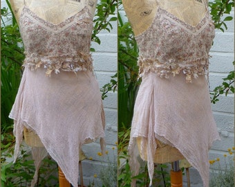 Woodland Fae Fairy Lace, Pixie Top, Tank Top Dress