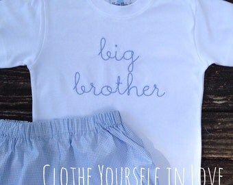 Hand Stitched Big Brother Shirt
