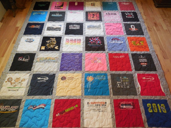 42 T Shirt Memory Quilt With Sashing Free Shipping