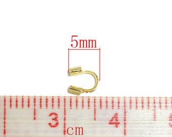 60 pcs Gold Plated Wire Protectors Wire Guardian - 5 x 5mm