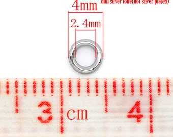 100 pcs Stainless Steel Open Jump Rings 4mm - 20 Gauge - High Quality