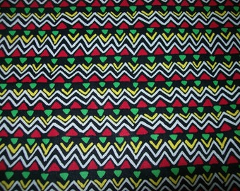 Classic Multicolor Tribal Print African Inspired fabric Sold Per fat Quarters For Quilting, Decorating Crafting, and many more application