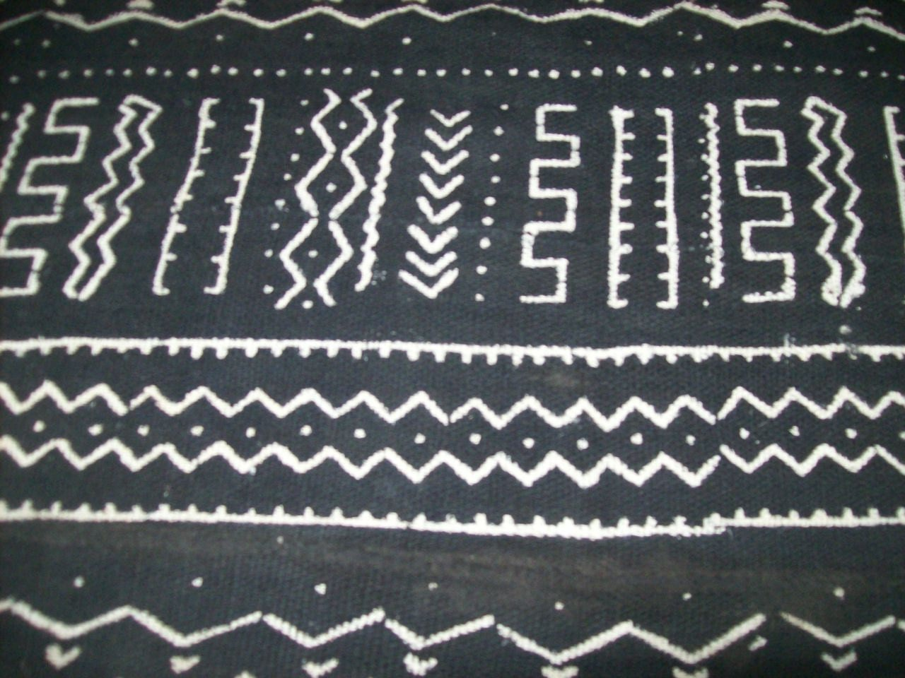 Luxury Mudcloth Black White Real African Mud Cloth Fabric