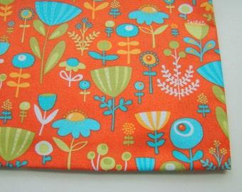 Park Slope by Erin McMorris for Free Spirit Fabric, Poppy Dot Orange, OOP, FAT QUARTER