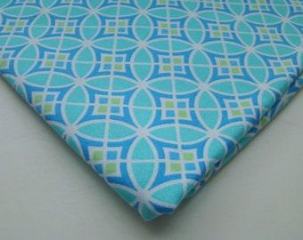 Monaco by Dena Designs Circle Pane Blue Fabric, OOP Fat Quarter