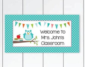 Teacher-Door-Sign-owl. Teacher Classroom-door-sign