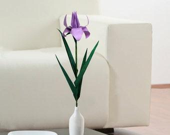 Origami Iris Flower, Iris Flower, Purple Iris, Iris Flowers, Iris Wedding, Unique Flower, Purple Flower,  Paper Flower