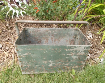 Primitive Industrial Metal Tool Caddy