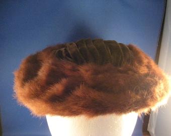 Mink Trimmed Hat