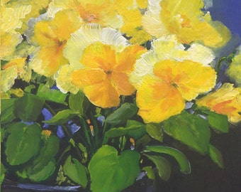 Yellow Pansies 1~Floral~Print
