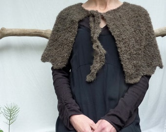 The Sassenach Capelet and/or Sassenach Sleeves, original garments featured in Outlander, hand knitted in wool and alpaca mix yarn