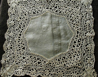 Vintage Silk Lace Hankie, Handkerchief, Wedding