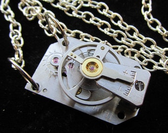 Steampunk Industrial Unusual Unique Movement Necklace Z 58