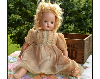 Madame Alexander Doll / Vintage Doll / Vintage Madame Alexander Little Genius Doll / Angelic Face and Original Dress