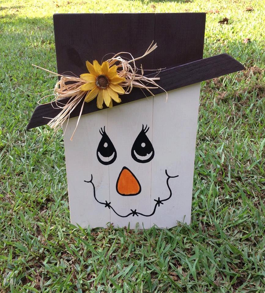 Scarecrow Fall Halloween 17.5x 10.5 Hand by DesignedbyKandJ
