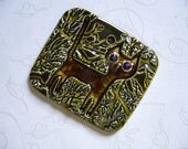 The Unusual - Stray Cat In The Woods Ceramic Pendant