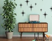Retro starbursts vinyl wall decals, confetti stars - nursery decor - Gold star decals