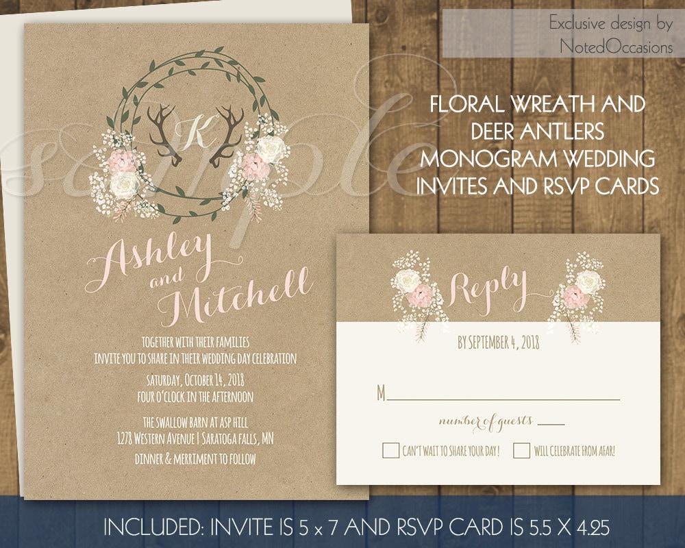 Deer Wedding Invitations: Chandeliers & Pendant Lights
