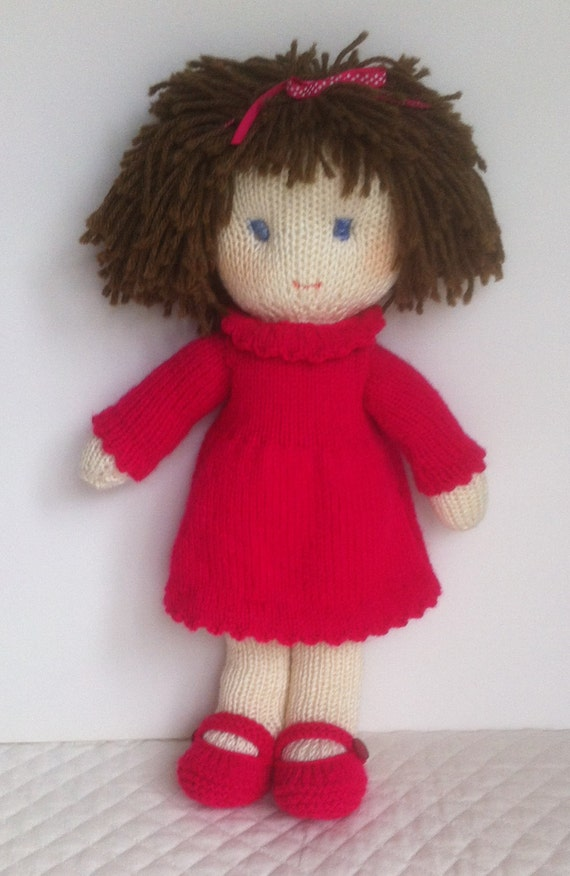 Free Dolls Knitting Patterns To Download : Doll Knitting Pattern pdf Instant Download