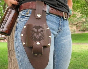 Leather Beer Holster, Colorado State University