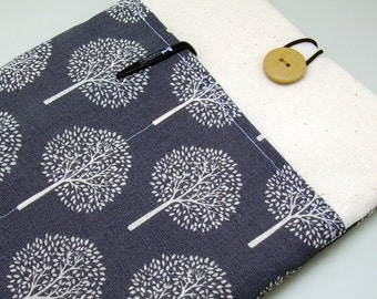 """11"""" 13"""" Macbook Pro case, Macbook Air cover, Surface RT Pro, iPad Pro, Custom tablet sleeve with 2 pockets PADDED - Trees (a)"""