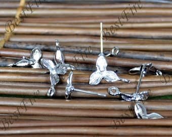 6 pcs of new style platinum tone brass earrings post 11x14mm,earrings findings,Fishhook Earring Findings