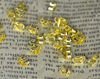 50pcs of Golden tone Brass Earring STUDS BACK STOPPERS 3x5mm