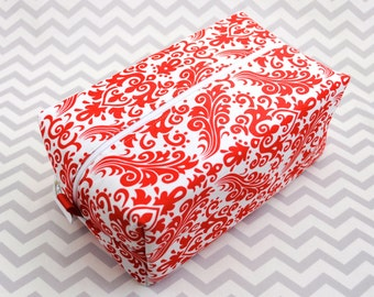 Large Box Bag, Travel Bag or Project Bag - Red