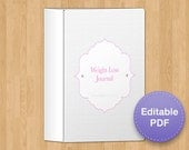 Classy Gray & Pink Weight Loss and Fitness Journal, 8 page, EDITABLE PDF