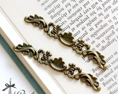 10pcs Antique Bronze plated brass Filigree  Jewelry Stampings  finding 12mm×75mm (FILIG-B-60)